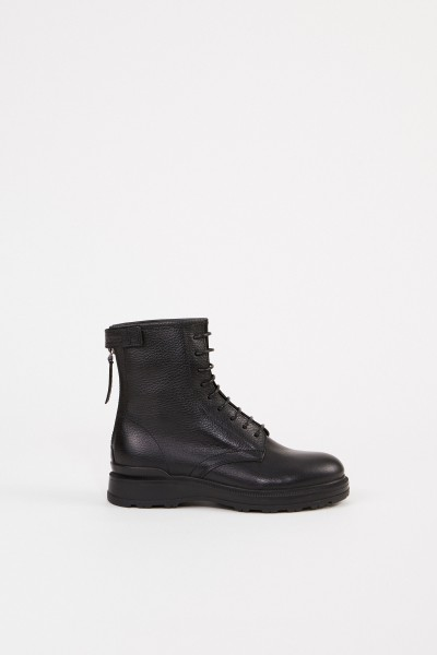 Woolrich Leather ankle boot Black