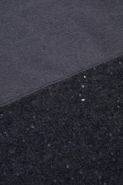 Fabiana Filippi Woll-Seiden Schal mit Pailletten-Details Dunkelgrau