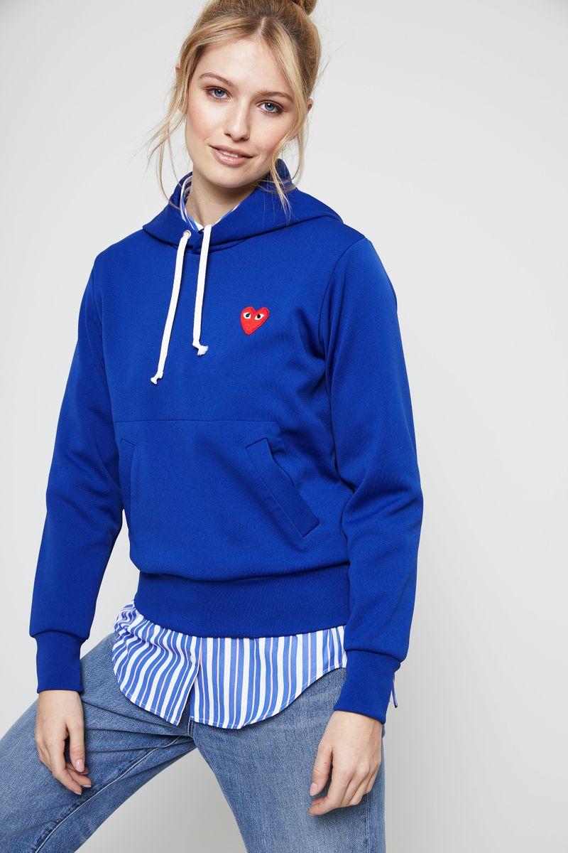 Hoodie mit Herz-Emblem Navy