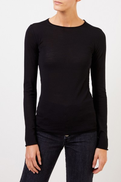 Stella McCartney Wool-Longsleeve with Detail Black