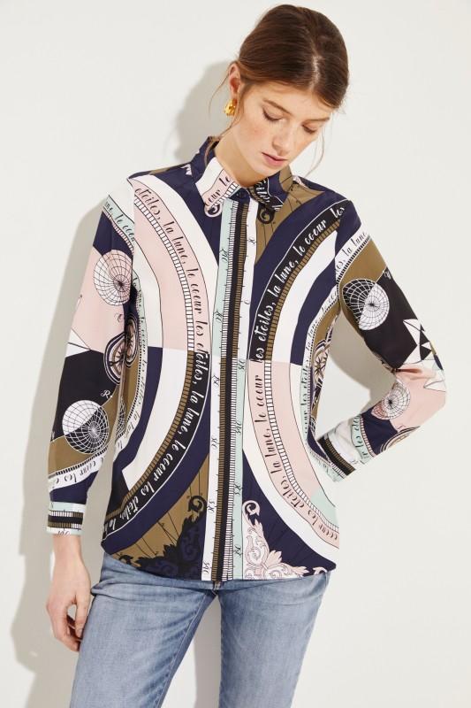 Seiden-Bluse 'Sienna' mit Print Multi
