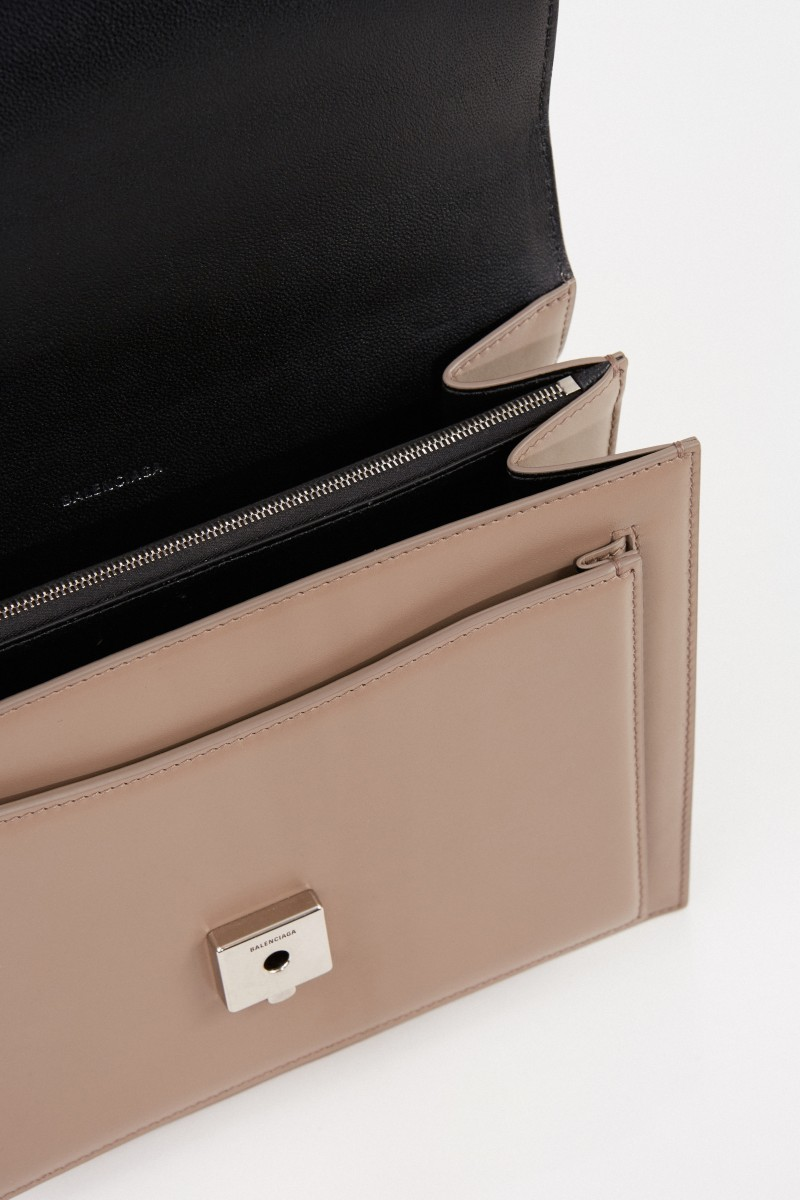 Leder-Tasche 'Sharp S' Beige
