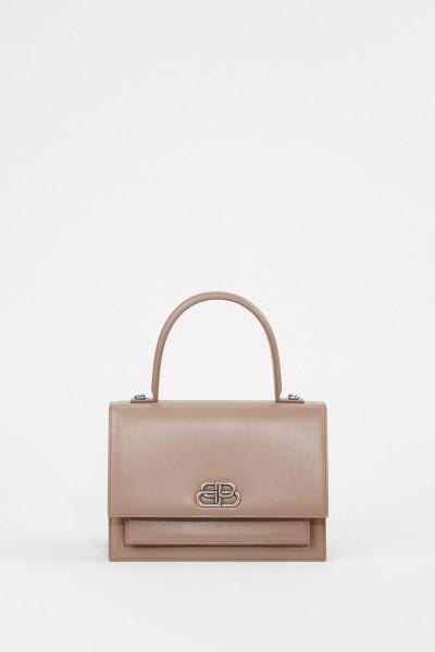 Leather bag 'Sharp S' Beige