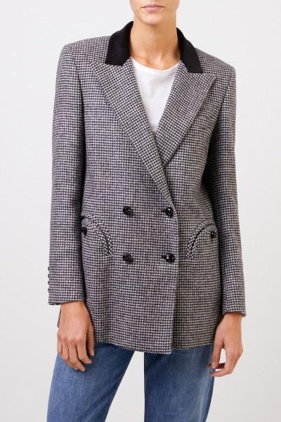 Blazé Milano Wool blazer 'Kismet Everyday' with houndstooth Black/Grey
