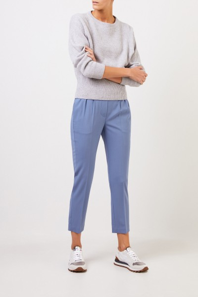 Brunello Cucinelli Classic wool trousers pigeon Blue