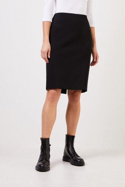 Cappellini Pencil skirt with slit Black