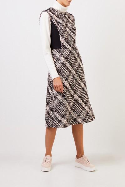 Tory Burch Tweed-Kleid mit Fransen Multi