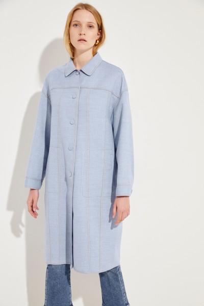 Cashmere coat Blue