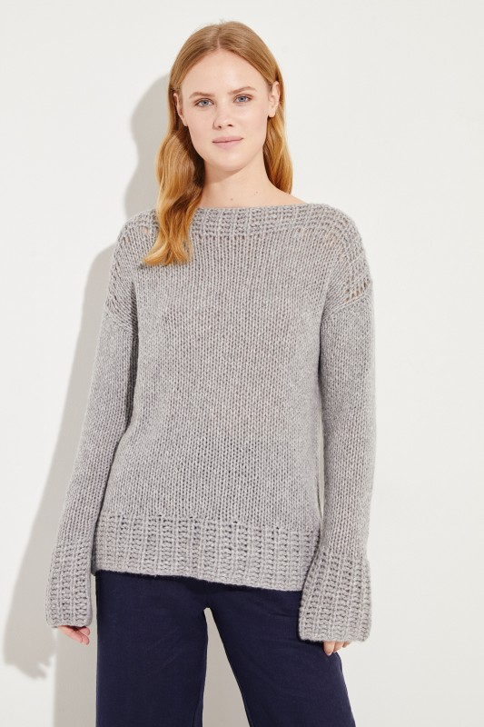e1c6e163b8b Handknitted Cashmere Sweater Grey