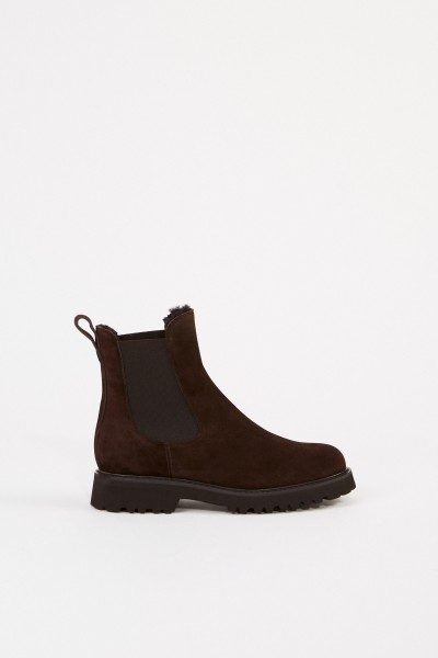 Unützer Suede chelsea ankle boot Brown