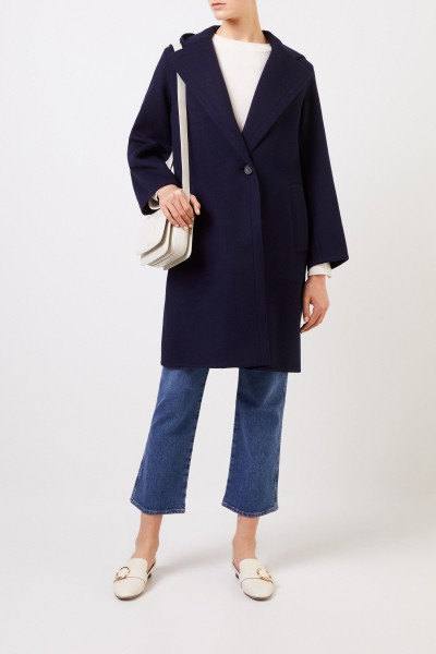 Vince Wool-coat with hood Dark Blue