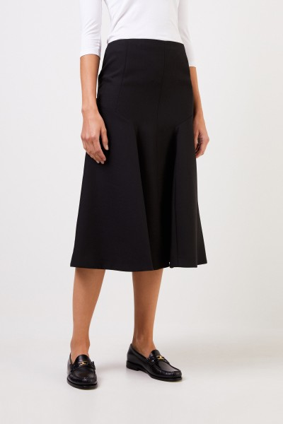 Joseph Flared wool skirt Black
