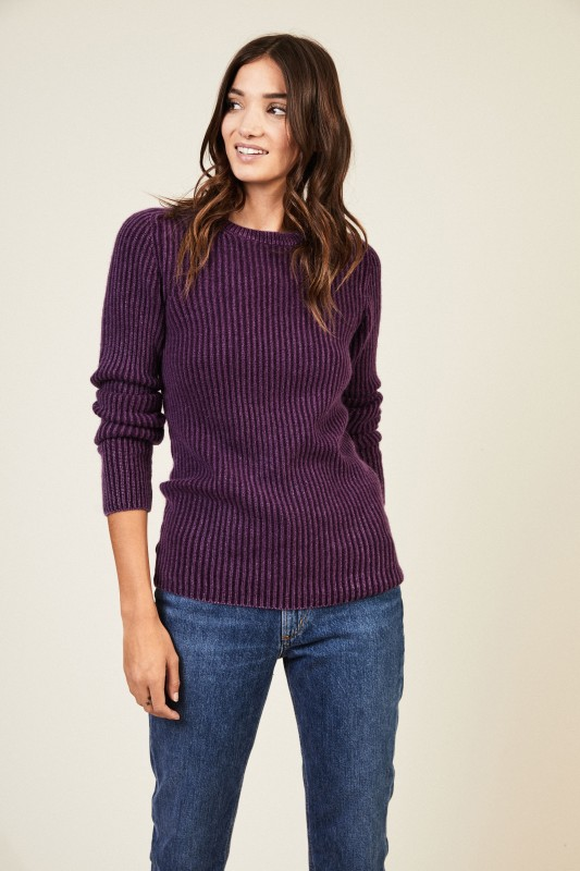 Cashmere-Pullover 'Amazonas' Violett