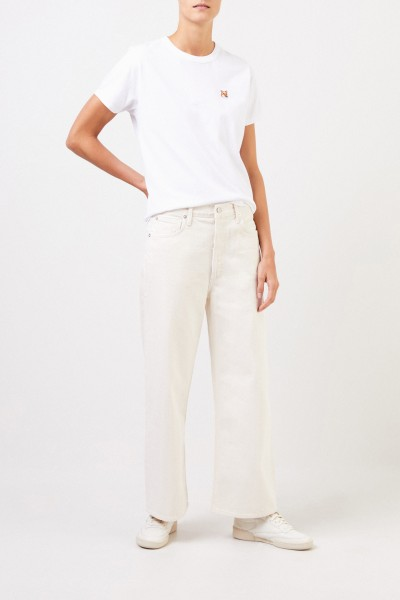 Maison Kitsuné T-shirt 'Fox Head Patch' White