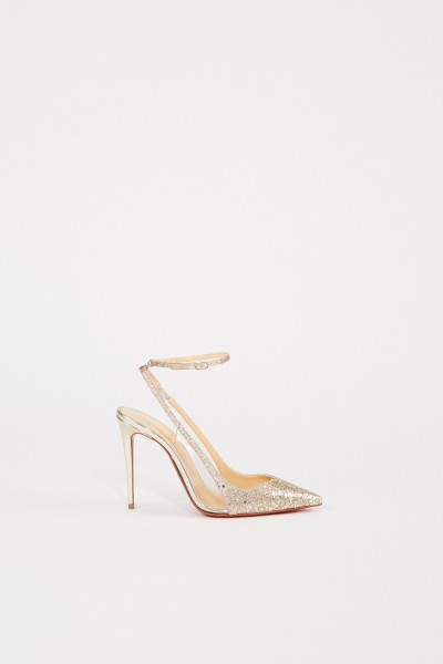 Christian Louboutin Pumps 'Optichoc 100 Glitter' Gold
