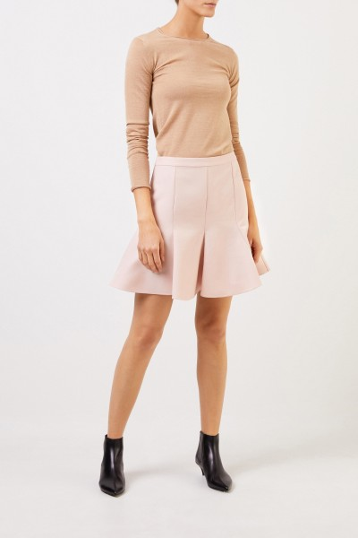 Stella McCartney Wool skirt with flared hem Light Pink