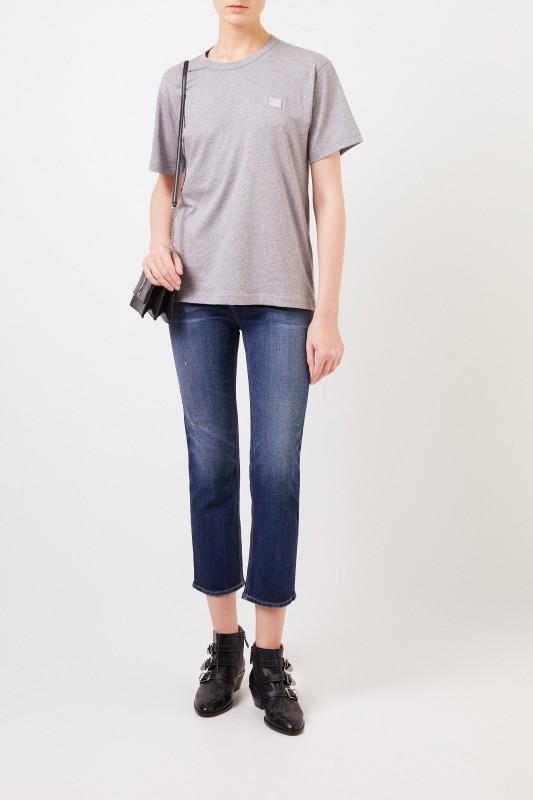 Acne Studios T-Shirt 'Nash Face' Grau