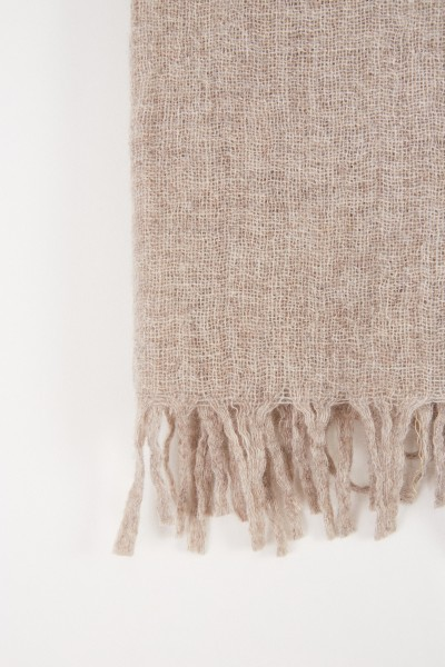 Fabiana Filippi Structured scarf in taupe melange