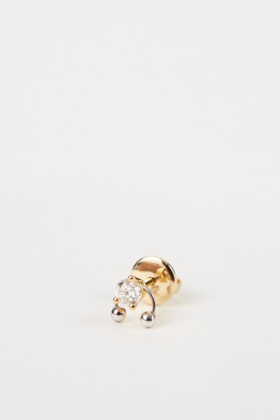 Ohrring 'Two In One' mit Diamant Gold