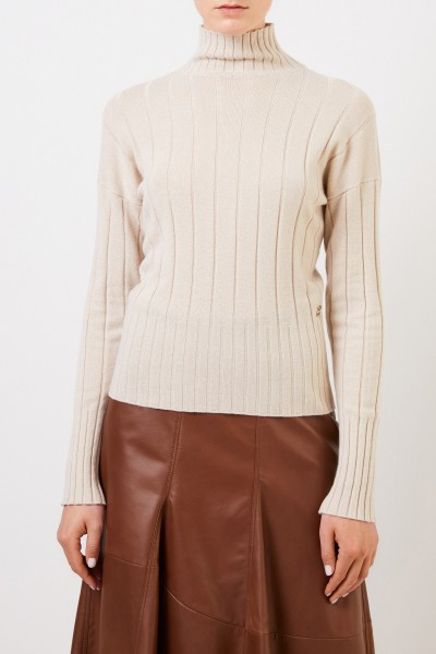Colombo Cashmere pullover with turtleneck Beige