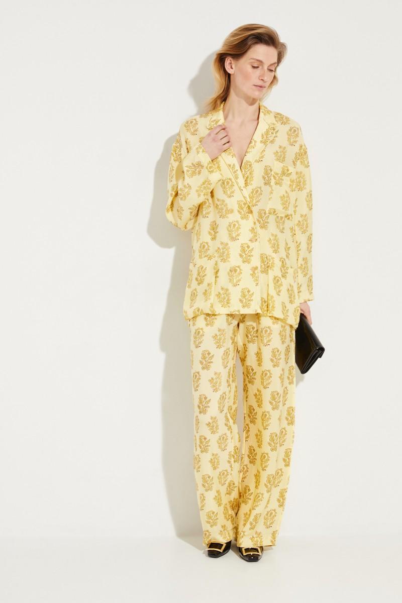 Blazer 'Sumi' mit floralem Print Gelb/Multi