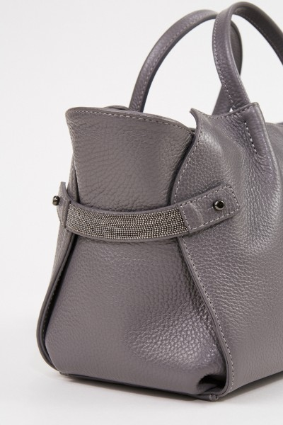 Fabiana Filippi Bag with pearl decoration Grey