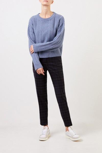 Cappellini Wool pants with glencheck Blue/Multi