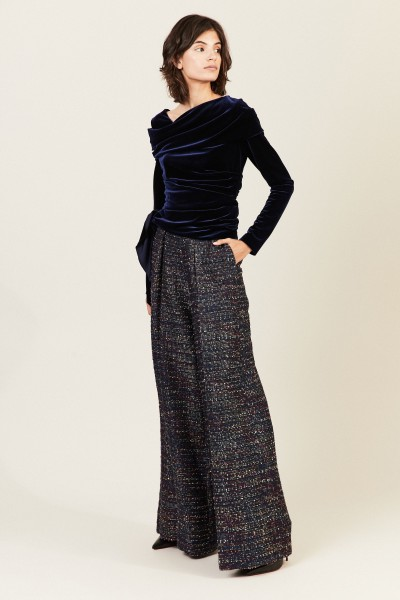Tweed-Hose Blau/Multi