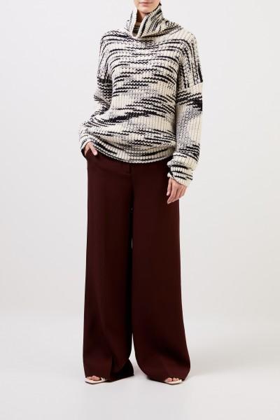 Joseph Seidenhose 'Alana' mit weitem Bein Braun