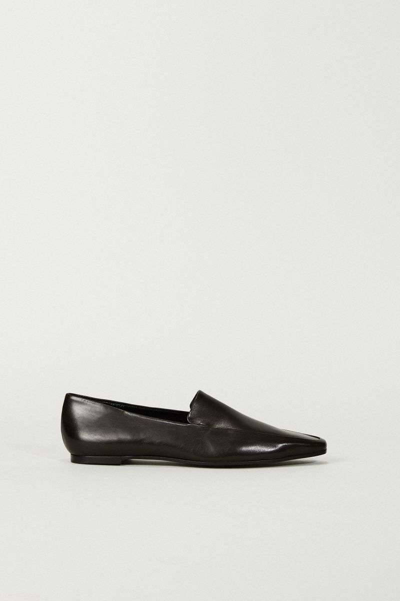 Leder-Loafer 'Minimal' Braun