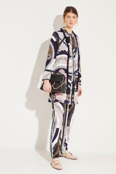 Seiden-Kleid 'Fringe Bow' mit Print Multi