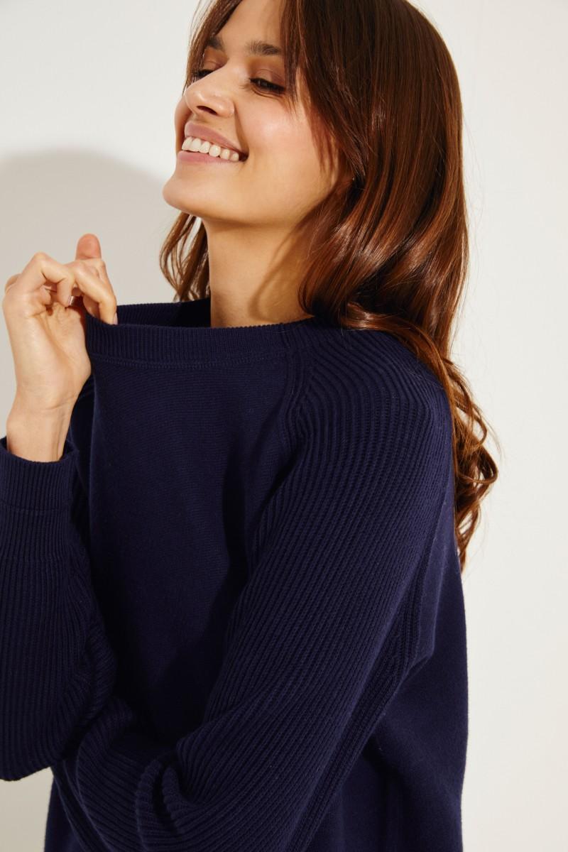 Baumwoll-Pullover Blau