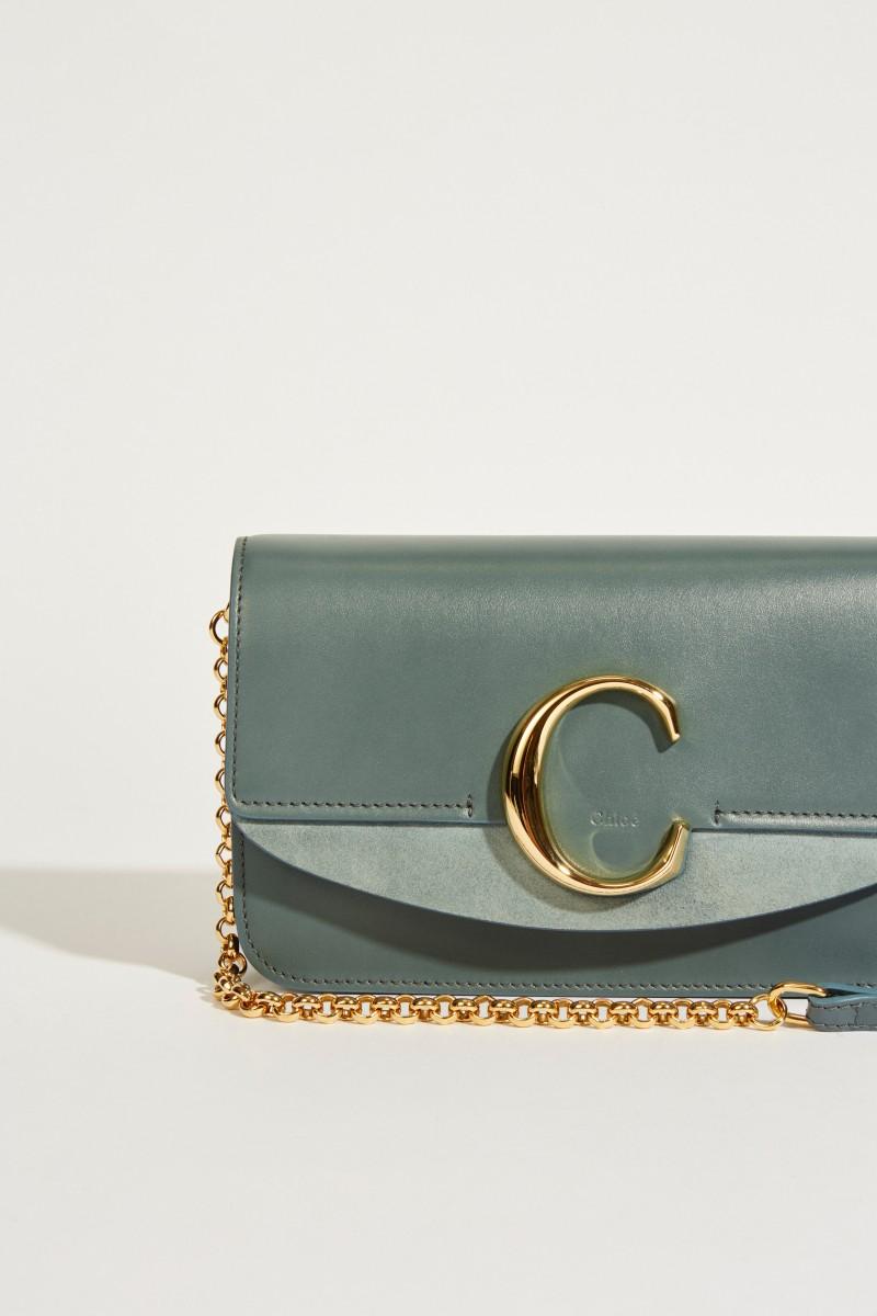 Umhängetasche 'Chloé C Mini' Cloudy Blue