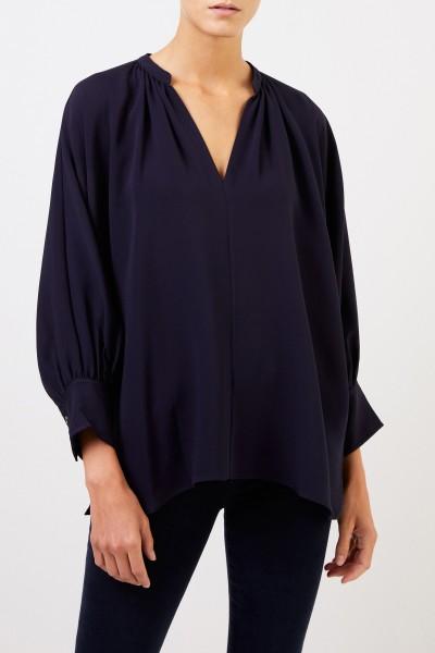 Joseph Silk blouse 'Alma' Navy Blue
