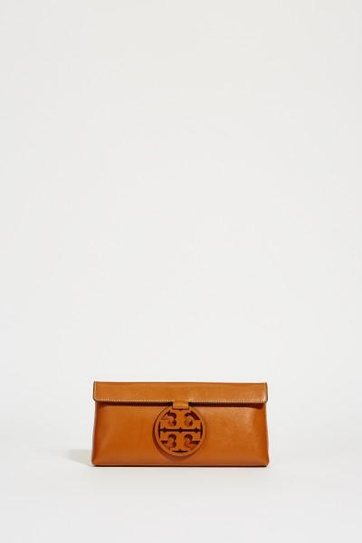 Clutch 'Miller' mit Logo Braun