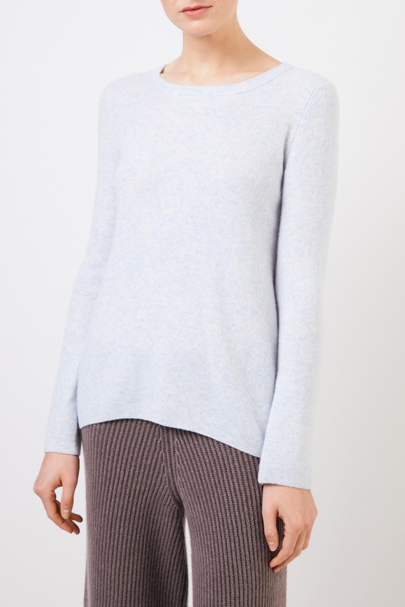 Cashmere-Seiden-Pullover 'Tami' Hellblau