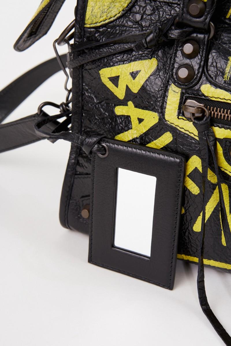 Tasche 'City Bag' mit Graffitti-Details Schwarz/Gelb