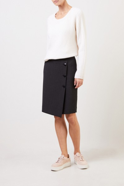 Seductive Pencil skirt 'Lea' with buttons Anthracite