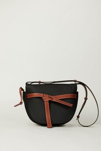 Handtasche 'Gate Bag' Schwarz/Cognac