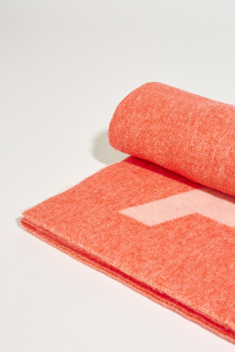 Klassischer Wollschal 'Toronty Logo' Pink