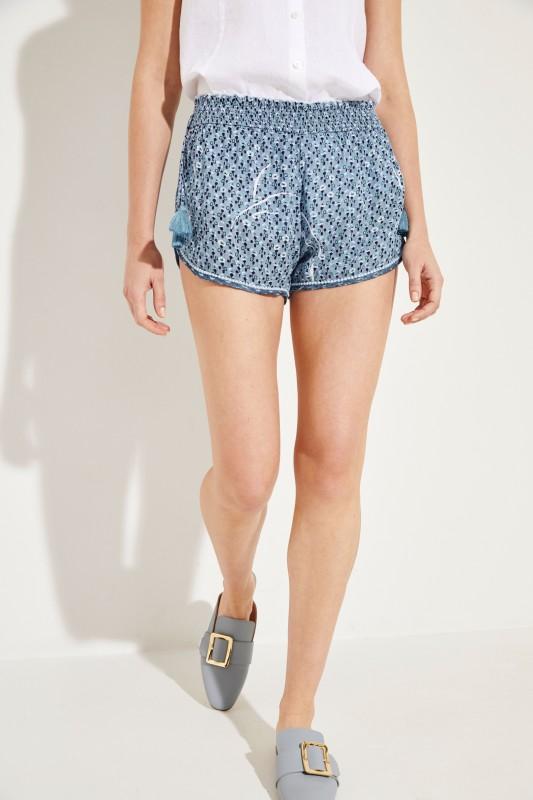 Shorts 'Elise' mit floralem Print Blau/Multi
