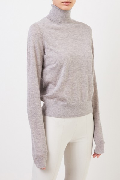 Co Fine cashmere sweater with turtleneck Light Grey