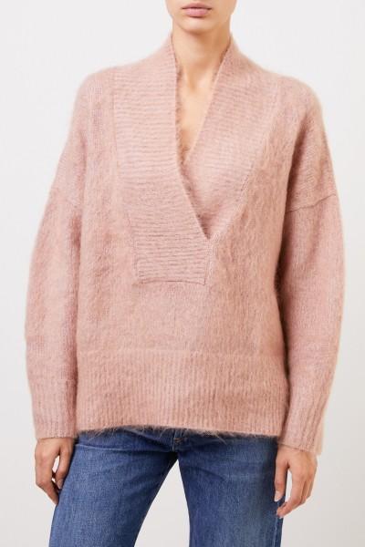Agnona Woll-Cashmere Pullover Rosé
