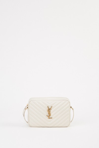 Saint Laurent Shoulder Bag 'Lou M' Cream