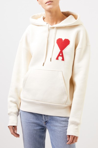 Ami Hoodie with logo Cream