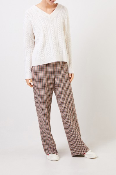 Tory Burch Dog-footed trousers with hem cover Multi