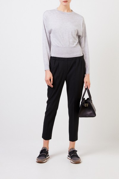 Cashmere silk sweater Grey