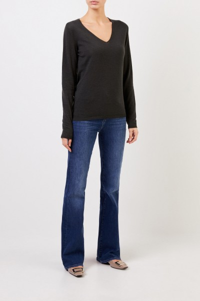 Cashmere Sweater 'Roxbury' with V-Neck Green