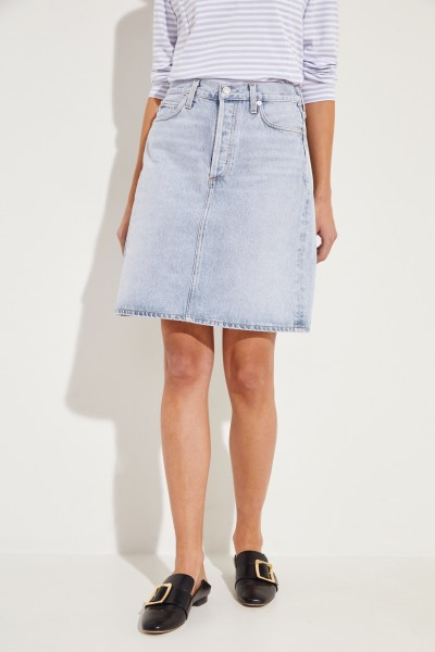 Denim skirt 'Iris' Blue