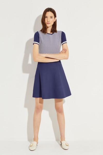 Valentino Patterned Knit-Dress Blue/White